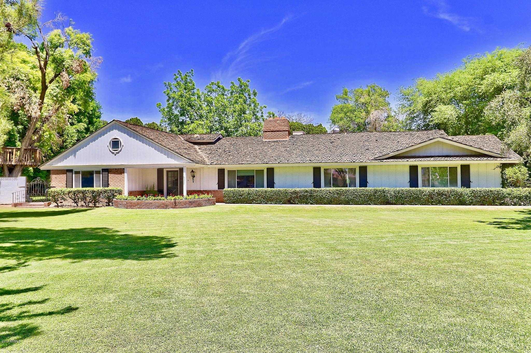 $1,750,000 - 5Br/4Ba - Home for Sale in Dana Estates, Scottsdale