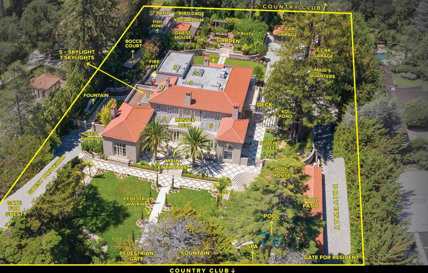 $50,000,000 - 6Br/9Ba -  for Sale in Hillsborough