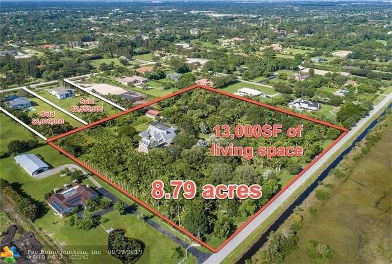 $3,995,000 - 8Br/10Ba -  for Sale in Everglades Sugar & Land C, Southwest Ranches