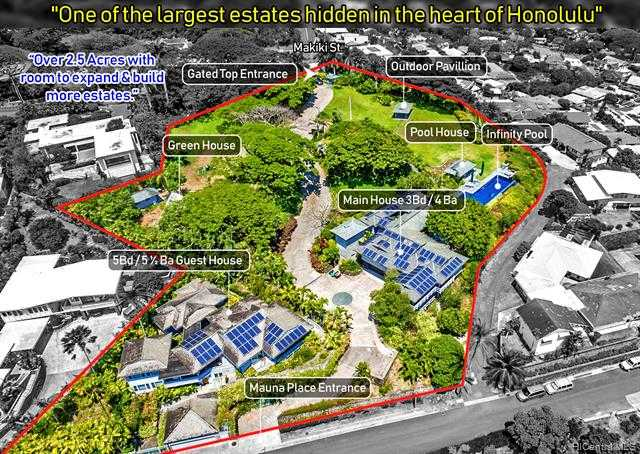 $11,998,000 - 8Br/10Ba -  for Sale in Makiki Heights, Honolulu