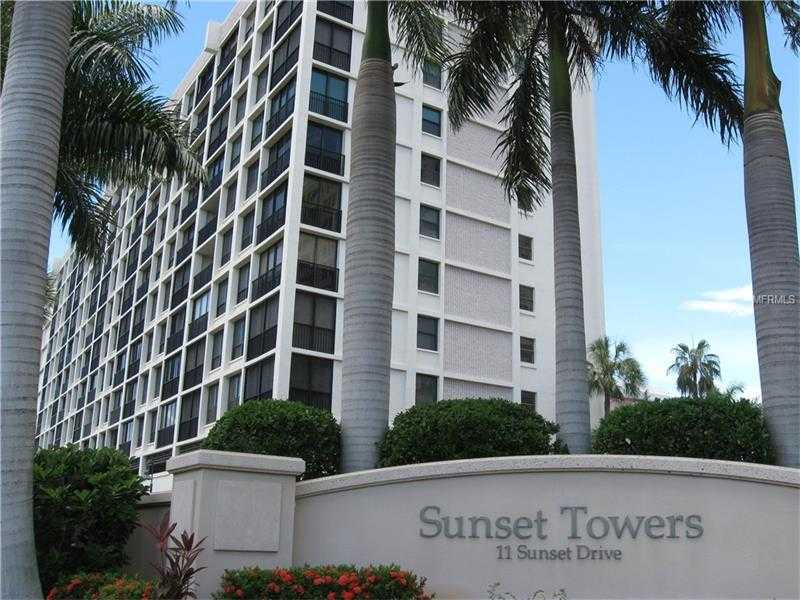 $479,900 - 2Br/2Ba -  for Sale in Sunset Towers, Sarasota