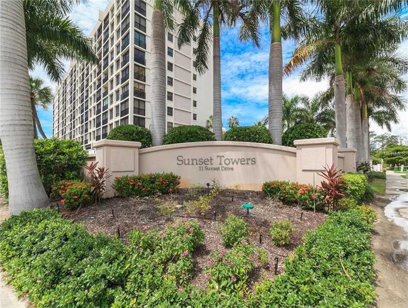 $474,900 - 2Br/2Ba -  for Sale in Sunset Towers, Sarasota