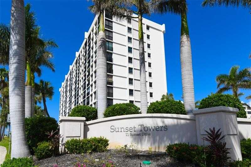 $450,000 - 2Br/2Ba -  for Sale in Sunset Towers, Sarasota
