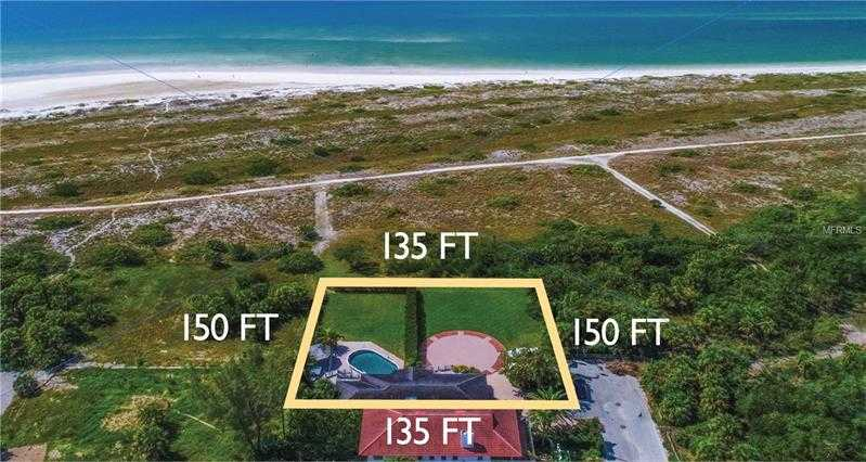 $4,950,000 - 3Br/3Ba -  for Sale in Lido Beach Div A, Sarasota