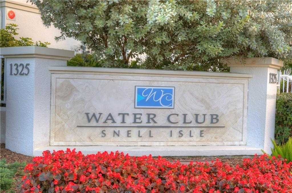 $589,900 - 2Br/3Ba -  for Sale in Water Club Snell Isle Condo, St Petersburg