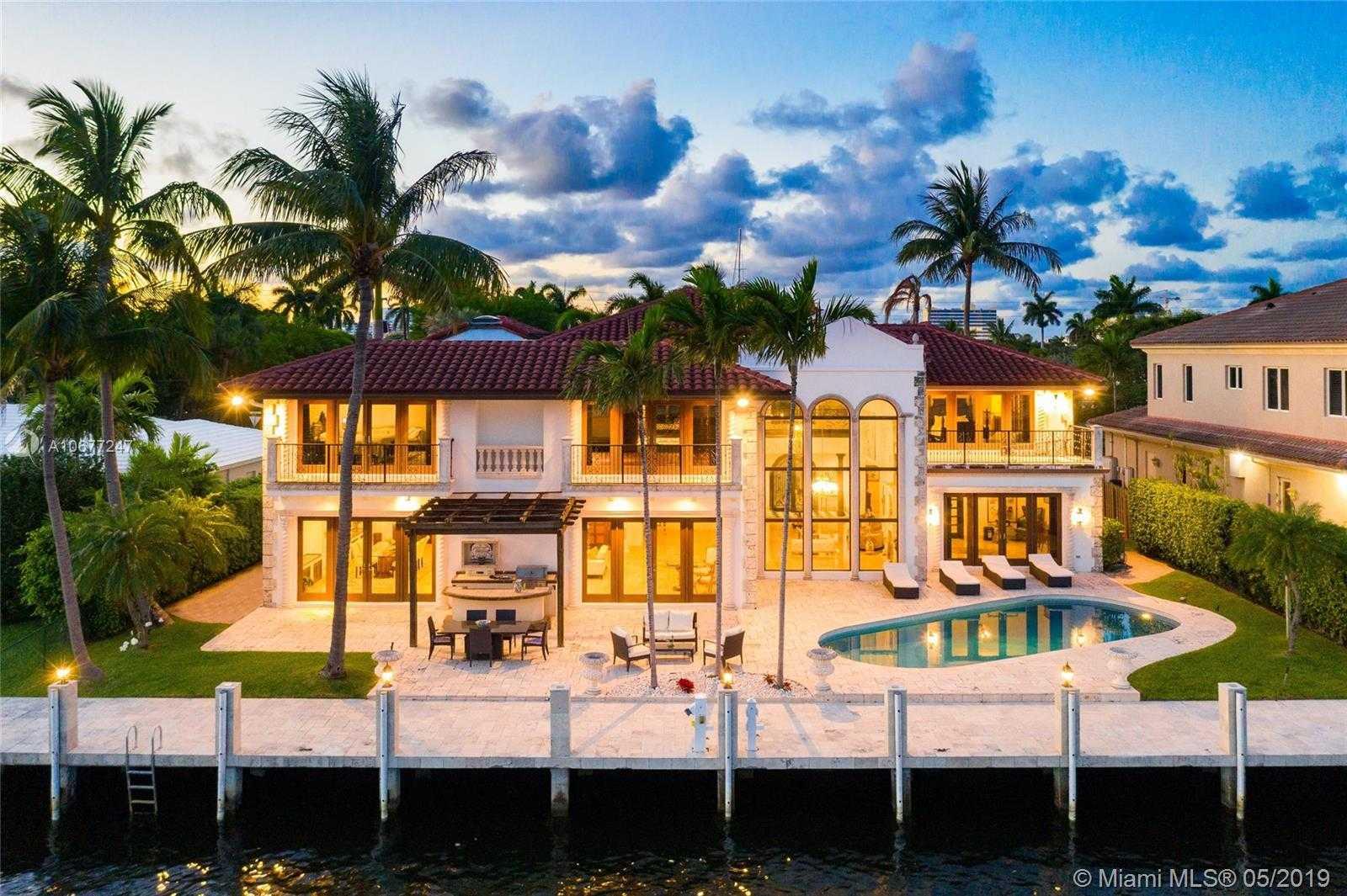 $3,999,999 - 5Br/7Ba -  for Sale in Sunrise Key, Fort Lauderdale