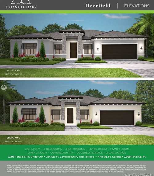 $549,900 - 4Br/3Ba -  for Sale in Triangle Oaks, Miami