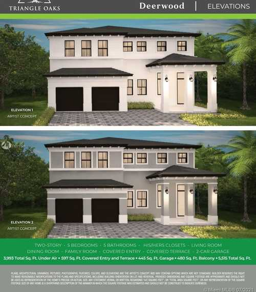 $766,900 - 5Br/5Ba -  for Sale in Triangle Oaks, Miami