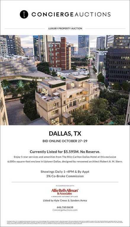 $6,700,000 - 3Br/4Ba -  for Sale in Tower & Regency Row Residence Condo, Dallas