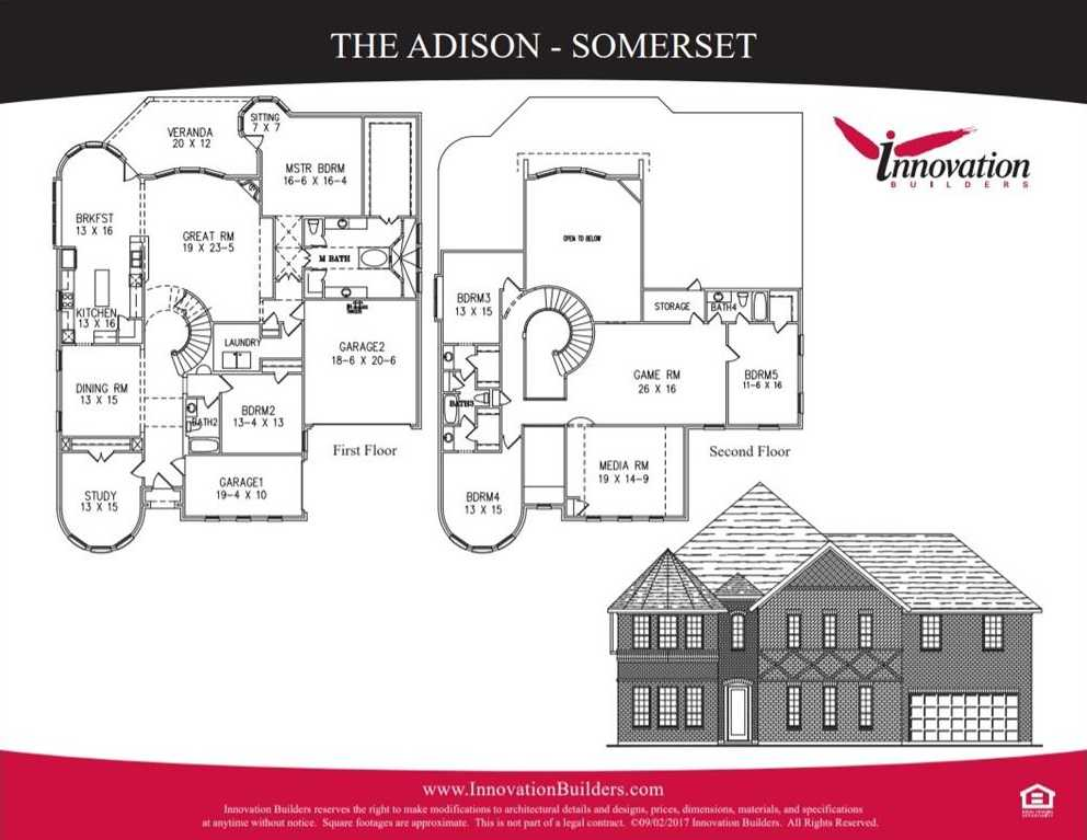 $426,990 - 4Br/3Ba -  for Sale in Somerset Phase I, Mansfield
