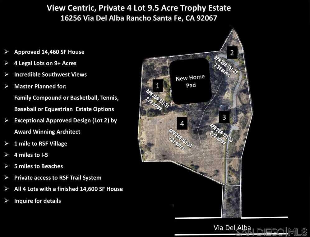 $21,000,000 - 6Br/9Ba -  for Sale in Covenant, Rancho Santa Fe