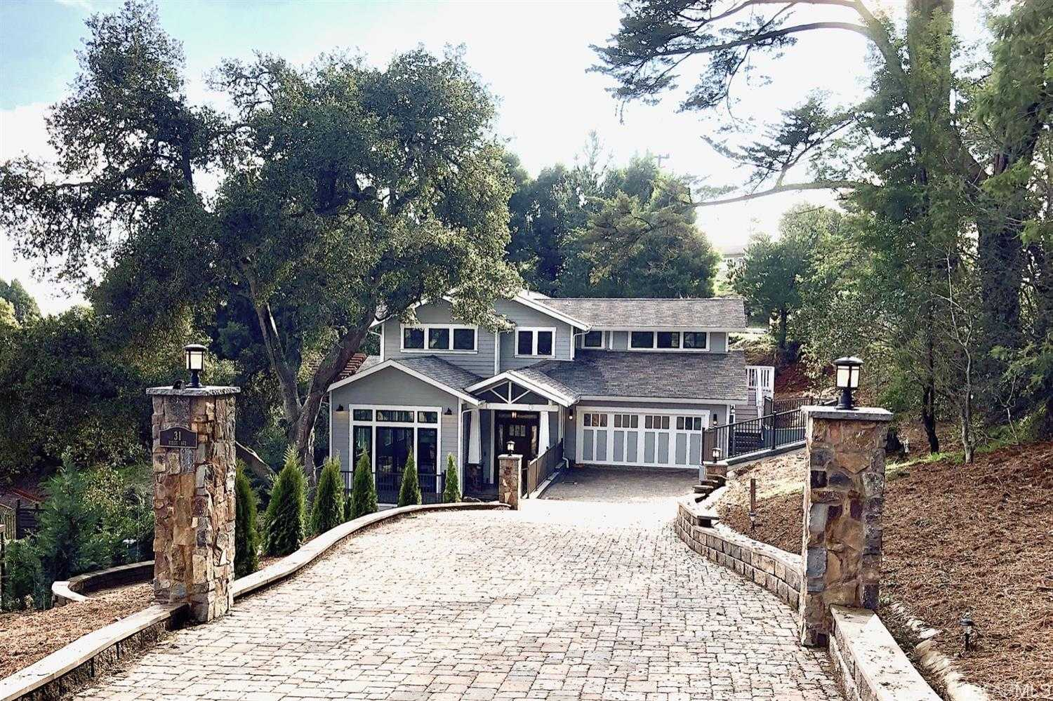 $3,487,000 - 5Br/6Ba -  for Sale in Mill Valley