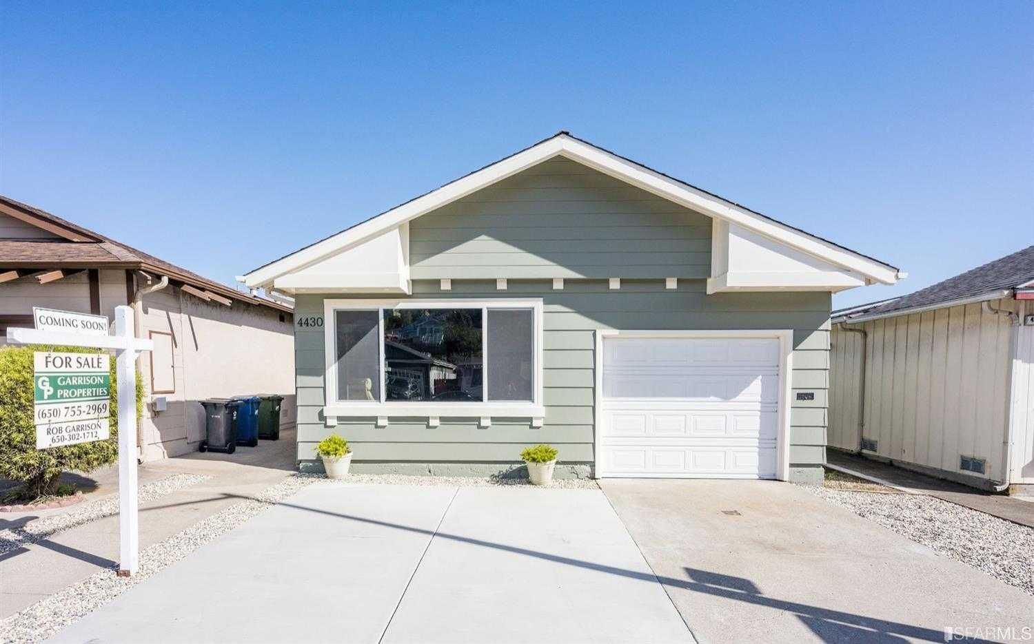 $998,000 - 3Br/2Ba -  for Sale in Daly City