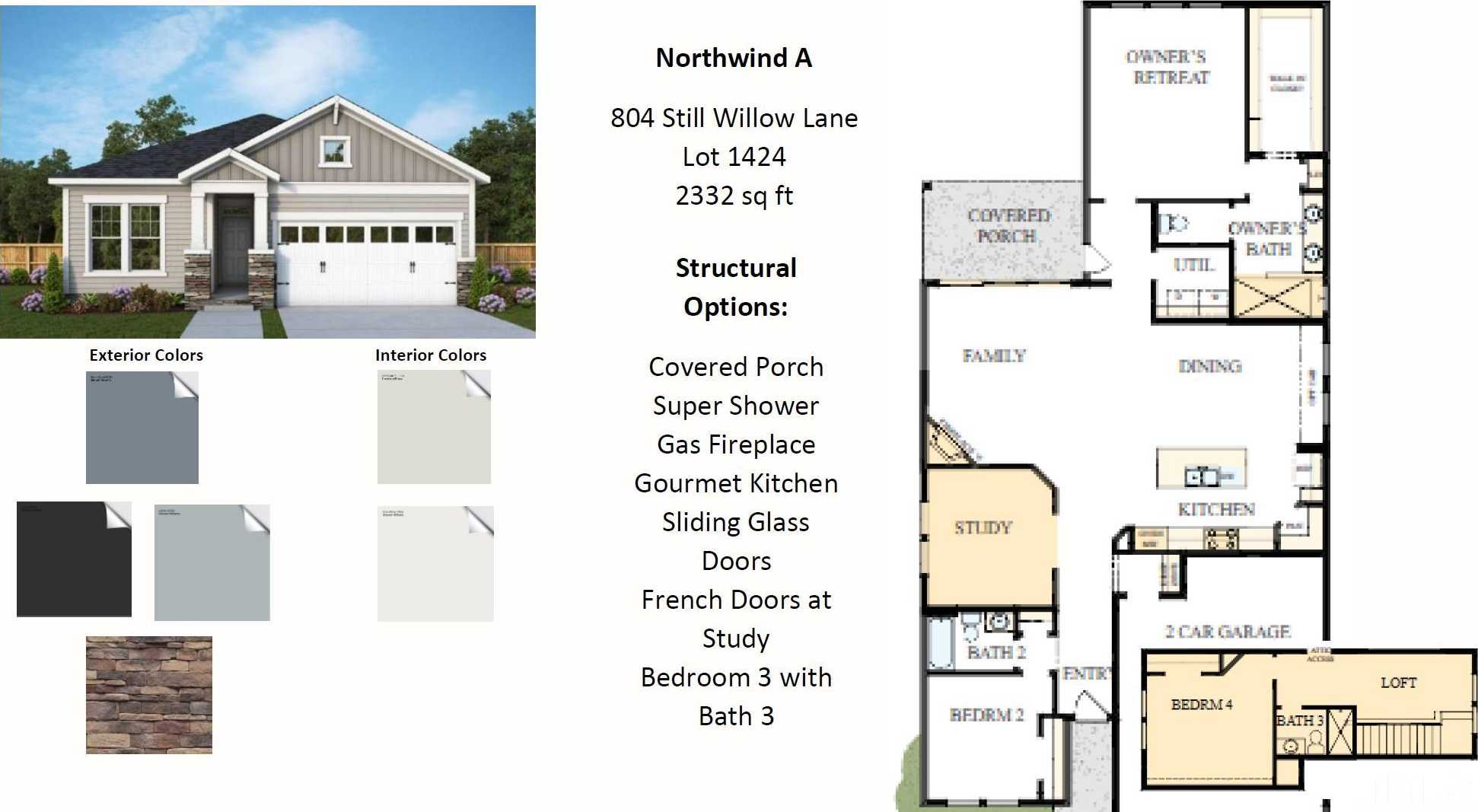 $497,200 - 3Br/3Ba -  for Sale in Wendell Falls, Wendell